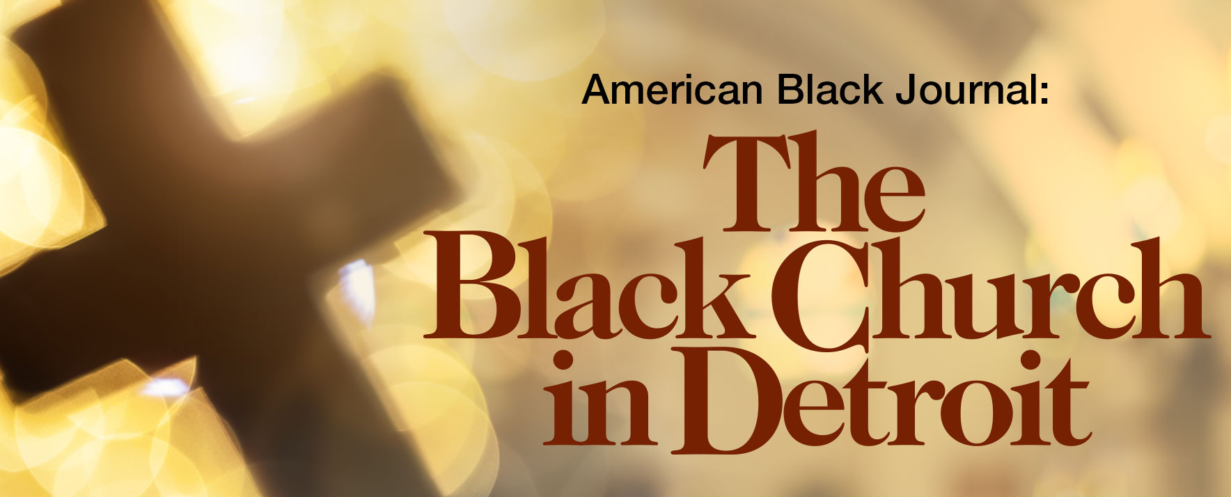 American Black Journal Black Church in Detroit logo