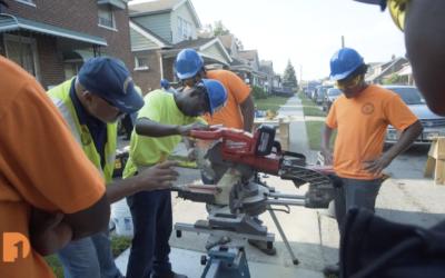 High Schoolers Learn Carpentry, Help Fix Up a Detroit Neighborhood