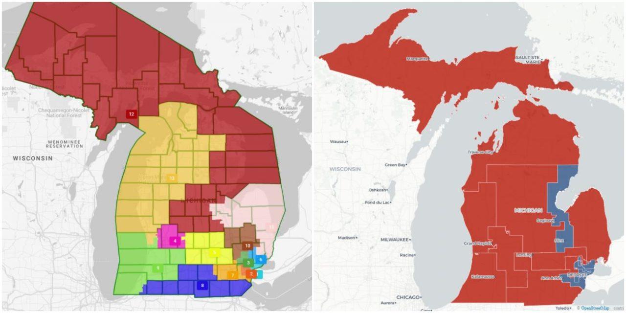 BridgeDetroit: Few Incumbents Are Safe in Michigan's Draft Congressional District Maps